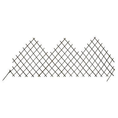 """vidaXL Garden Trellis Fences 5 pcs 66.9""""x29.5"""" Willow"""