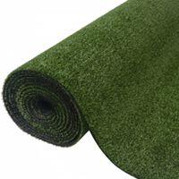 """vidaXL Artificial Grass 0.3""""/0.4"""" 39.4""""x393.7"""" Green"""