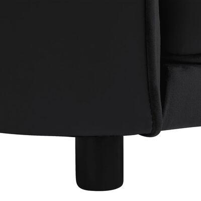 "vidaXL Dog Sofa Black 27.2""x19.3""x15.7"" Plush and Faux Leather"