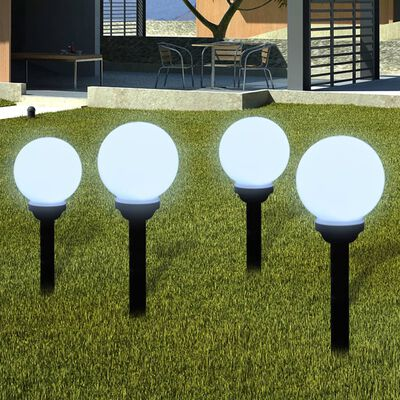 """vidaXL Outdoor Pathway Lamps 8 pcs LED 5.9"""" with Ground Spike"""