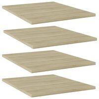 """vidaXL Bookshelf Boards 4 pcs Sonoma Oak 15.7""""x19.7""""x0.6"""" Chipboard"""