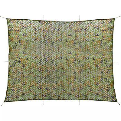 vidaXL Camouflage Net with Storage Bag 9.8'x13'