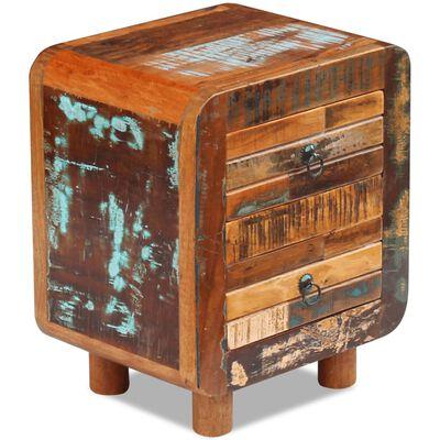 "vidaXL Night Cabinet Solid Reclaimed Wood 16.9""x13""x20"""