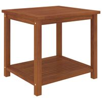 """vidaXL Side Table Solid Acacia Wood 17.7""""x17.7""""x17.7"""""""