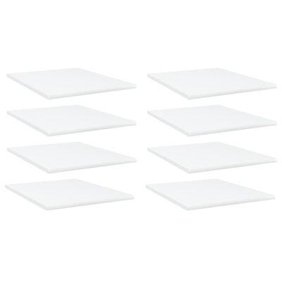 "vidaXL Bookshelf Boards 8 pcs White 15.7""x19.7""x0.6"" Chipboard"