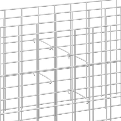 "vidaXL Gabion Hooks 50 pcs Galvanized Steel 15.7"""