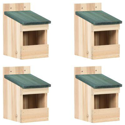 "vidaXL Bird Houses 4 pcs 4.7""x6.3""x7.9"" Firwood"