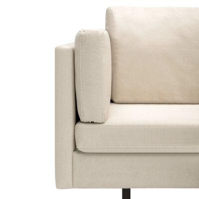 vidaXL Corner Sofa Cream Fabric
