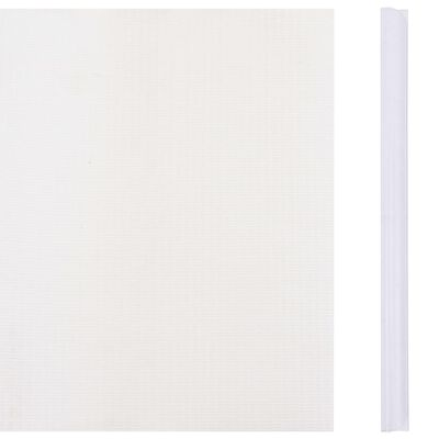 vidaXL Garden Privacy Screen PVC 114.8'x0.6' White