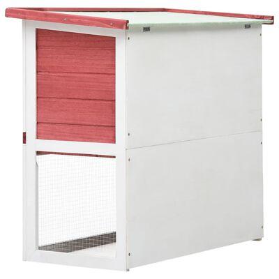 vidaXL Outdoor Rabbit Hutch 1 Door Red Wood