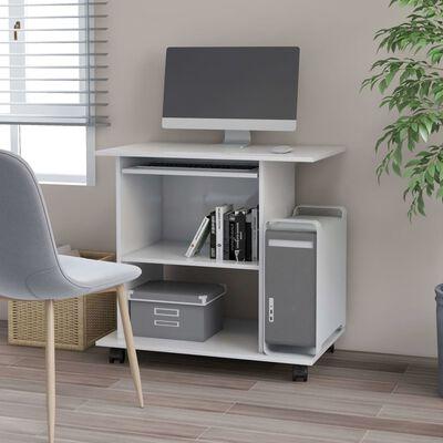 """vidaXL Computer Desk White 31.5""""x19.7""""x29.5"""" Chipboard"""