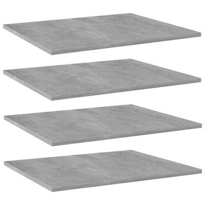 "vidaXL Bookshelf Boards 4 pcs Concrete Gray 23.6""x19.7""x0.6"" Chipboard"