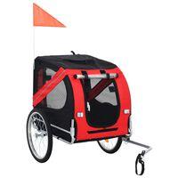 vidaXL Dog Bike Trailer Red and Black