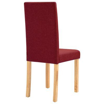 vidaXL Dining Chairs 6 pcs Wine Red Fabric