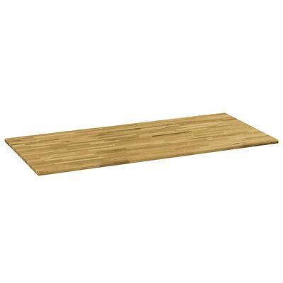"vidaXL Table Top Solid Oak Wood Rectangular 0.9"" 47.2""x23.6"""