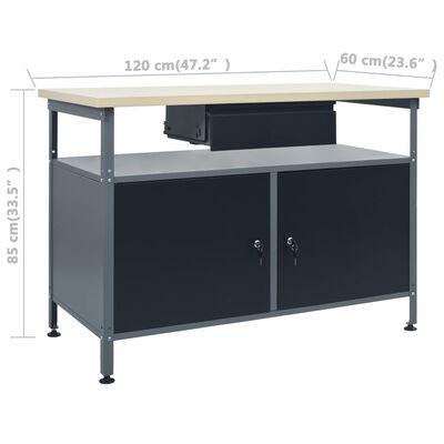 vidaXL Workbench with Three Wall Panels
