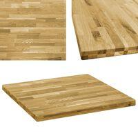 "vidaXL Table Top Solid Oak Wood Square 1.7"" 31.5""x31.5"""