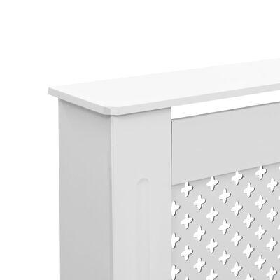 "vidaXL Radiator Covers 2 pcs White 59.8""x7.5""x32.1"" MDF"