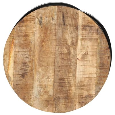 "vidaXL Coffee Table Black 23.6""x23.6""x15.7"" Solid Rough Mango Wood"