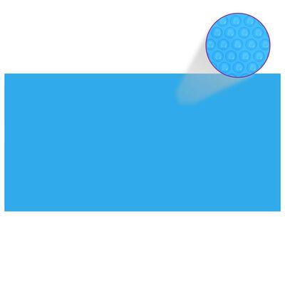 Rectangular Pool Cover 216 x 108 inch PE Blue