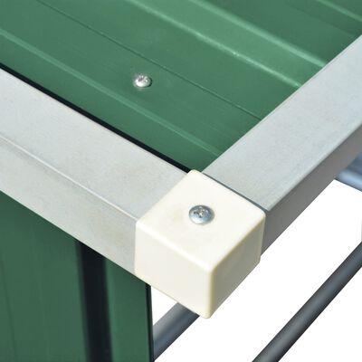 """vidaXL Garden Log Storage Shed Galvanized Steel 64.2""""x32.7""""x60.6"""" Green"""