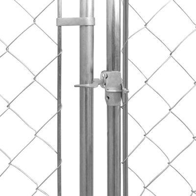 vidaXL Outdoor Dog Kennel Galvanised Steel 18.7'x18.7'x6.1'
