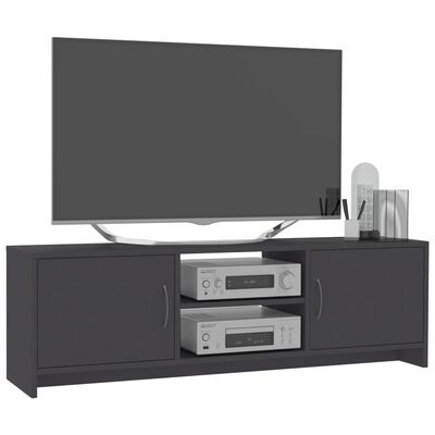 "vidaXL TV Cabinet Gray 47.2""x11.8""x14.8"" Chipboard"