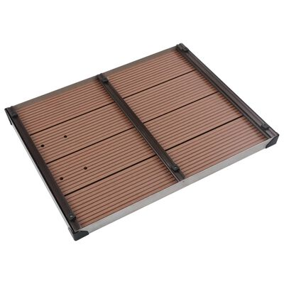 """vidaXL Outdoor Shower Tray WPC Stainless Steel 31.5""""x24.4"""" Brown"""