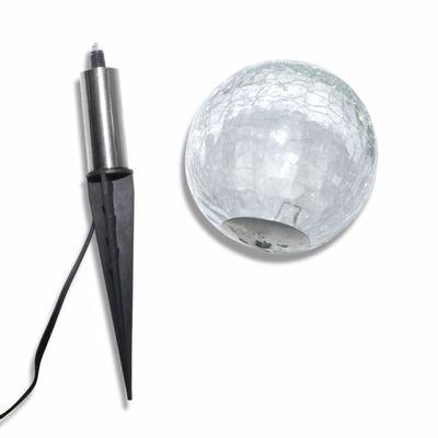 vidaXL Solar Bowl 3 LED Garden Lights with Spike Anchors & Solar Panel