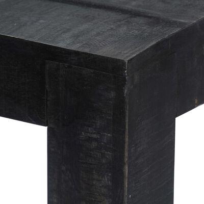 "vidaXL Dining Table Black 70.9""x35.4""x30"" Solid Mango Wood"