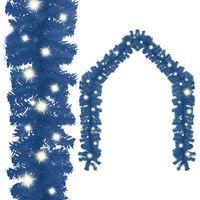 "vidaXL Christmas Garland with LED Lights 787.4"" Blue"