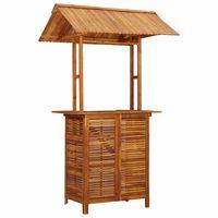 """vidaXL Outdoor Bar Table with Rooftop 48""""x41.7""""x85.4"""" Solid Acacia Wood"""