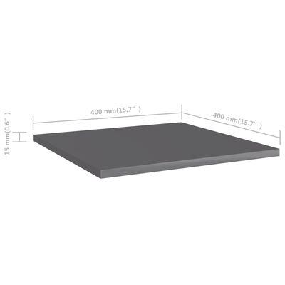 "vidaXL Bookshelf Boards 8 pcs High Gloss Gray 15.7""x15.7""x0.6"" Chipboard"