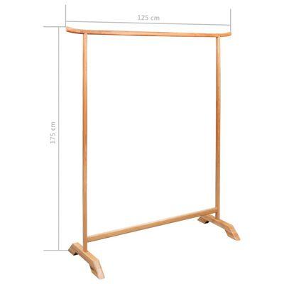 """vidaXL Clothes Rack 49.2""""x68.9"""" Solid Oak Wood"""