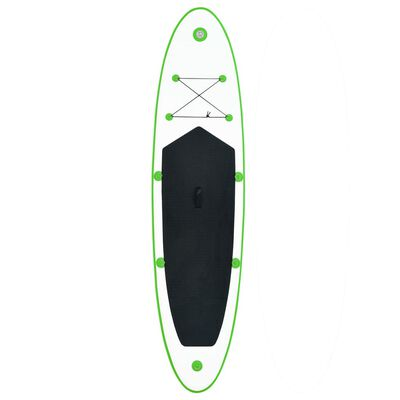vidaXL Inflatable Stand Up Paddleboard Set Green and White