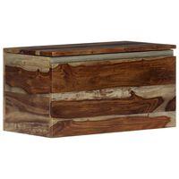 "vidaXL Storage Chest 22.4""x11.8""x11.8"" Solid Sheesham Wood"