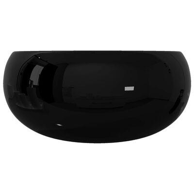 "vidaXL Basin Ceramic Round Black 15.7""x5.9"""