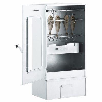 "vidaXL BBQ Oven Smoker with 2.2lbs Wood Chips 17.5""x11.4""x32.7"""