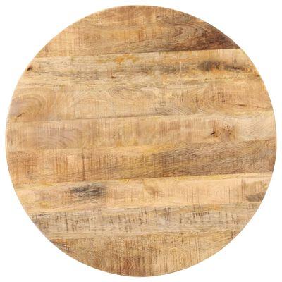 "vidaXL Bistro Table Round Ø27.5""x29.5"" Rough Mango Wood"
