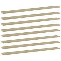 """vidaXL Bookshelf Boards 8 pcs Sonoma Oak 39.4""""x3.9""""x0.6"""" Chipboard"""