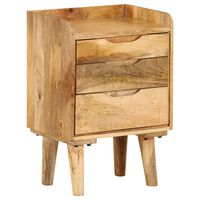 "vidaXL Bedside Cabinet Solid Mango Wood 15.7""x11.8""x23.4"""
