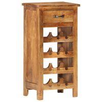"""vidaXL Wine Cabinet 15.7""""x11.8""""x31.5"""" Solid Acacia Wood"""