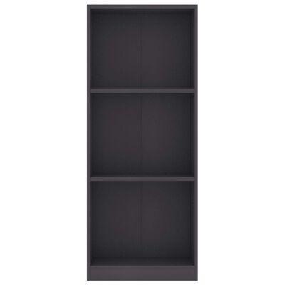"vidaXL 3-Tier Book Cabinet Gray 15.7""x9.4""x42.5"" Chipboard"