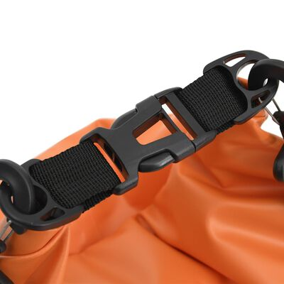 vidaXL Dry Bag with Zipper Orange 7.9 gal PVC