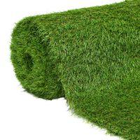 """vidaXL Artificial Grass 4.9'x16.4'/1.6 Green"""""""