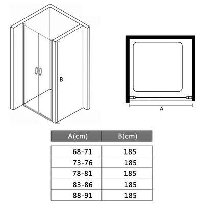 "vidaXL Shower Doors Clear ESG 35.4""x70.9"""