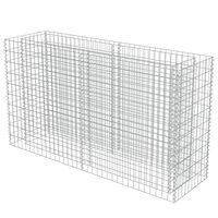 "vidaXL Gabion Raised Bed Galvanised Steel 70.9""x19.7""x39.4"""