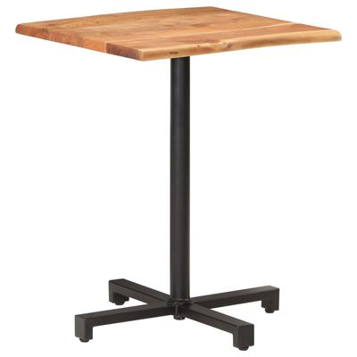 """vidaXL Bistro Table with Live Edges 23.6""""x23.6""""x29.5"""" Solid Acacia Wood"""