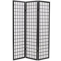"vidaXL Folding 3-Panel Room Divider Japanese Style 47.2""x66.9"" Black"