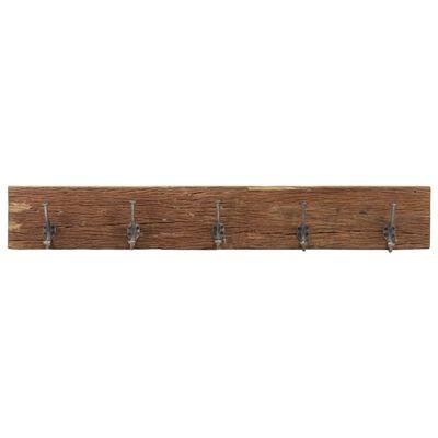 "vidaXL Hall Hanger with 5 Hooks 39.4""x1""x6"" Solid Reclaimed Wood"